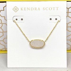 New Kendra Scott Elisa In Gold Iridescent Drusy